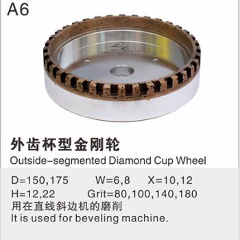 Outside-segmented Diamond Cup Wheel