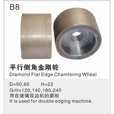Diamond Flat Edge Chamfering Wheel